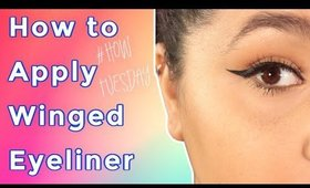 How to apply Winged Eyeliner - How Tuesday- (NoBlandMakeup)