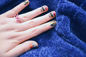 nail wraps for the incompetent! nail rock tribal wraps.