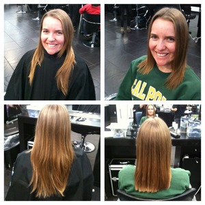 Hair cut by Chelsea Reeds.