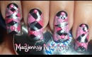 Pink Argyle Scottish Nails Collaboration with NailbyBea