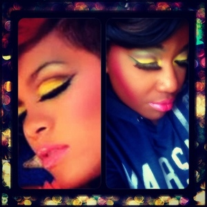 "Rihanna inspired look from her ""whose that chick"" music video!"