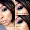 blue eyeshadow nude lips