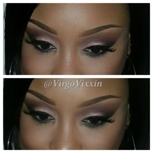 Eyes are the Motive palette in beauty weapon and brows are spiked and dipdown fluidline by MAC