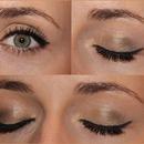 Golden neutral Eye Makeup