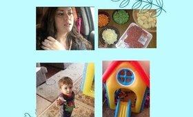 Sick Toddler/Inflatible House/Shepherd's pie/Family Vlog