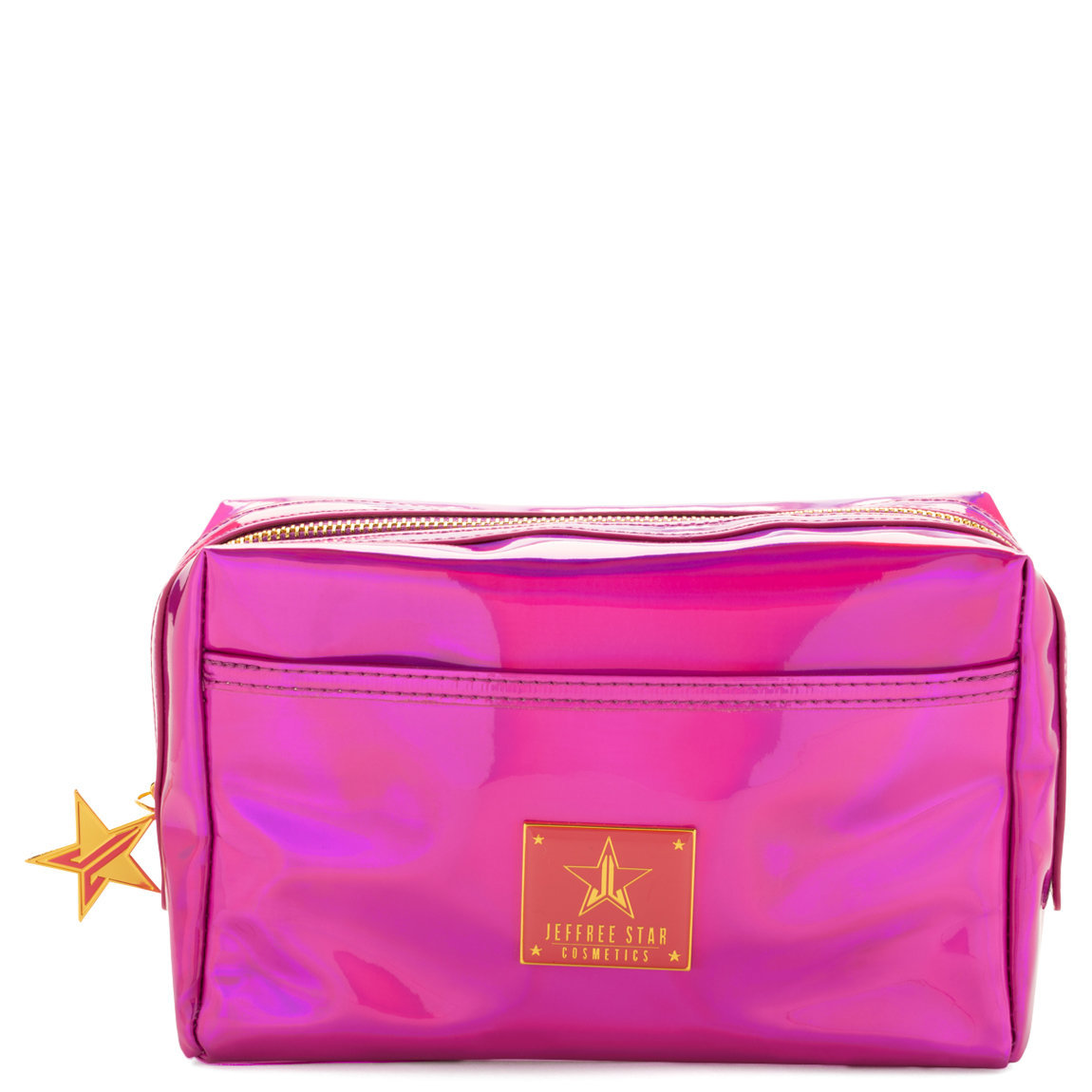 Jeffree Star Cosmetics Makeup Bag Holographic Purple product swatch.