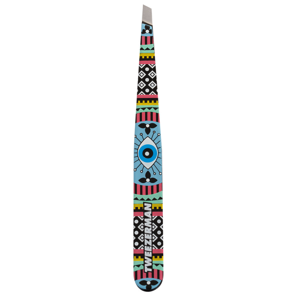 Tweezerman Slant Tweezer Aztec Eye product smear.