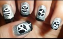 Dawn of War Tau Theme Gamer Nail Art