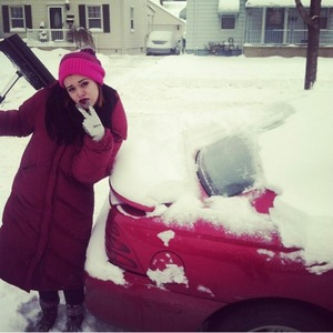 Literally dug my car out of snow. Just your typical day in Michigan.