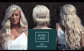 DIY | 3 EASY BOHO BRIDAL HAIRSTYLES