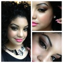 Bronze eye with Viva Glam Nicki