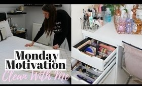 Monday Clean With Me Motivation! + How I Organise My Makeup