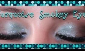 Turquoise Smokey Eyes -  Wedding Party Makeup